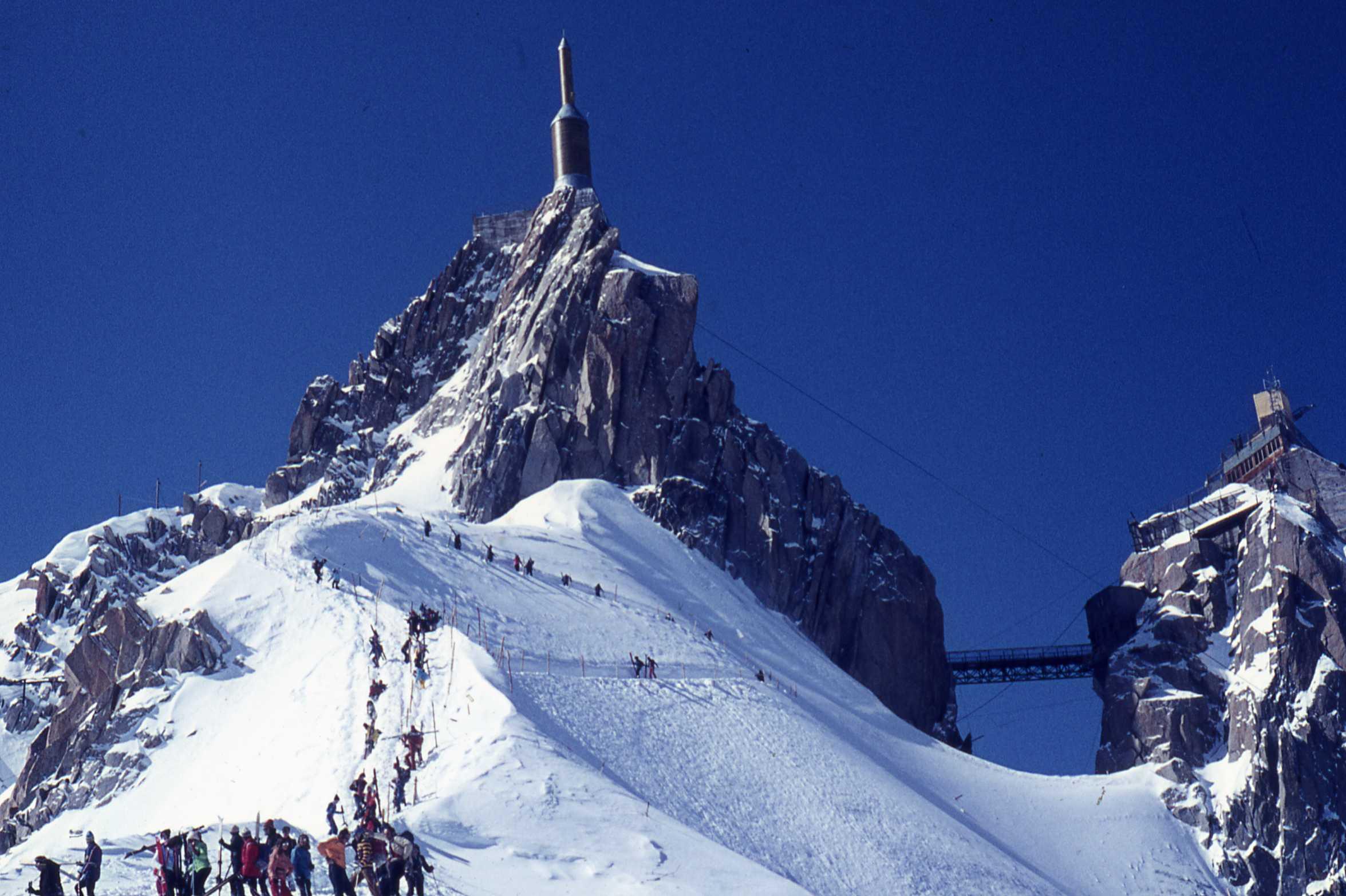 Aiguille du Midi inizio discesa verso Chamonix