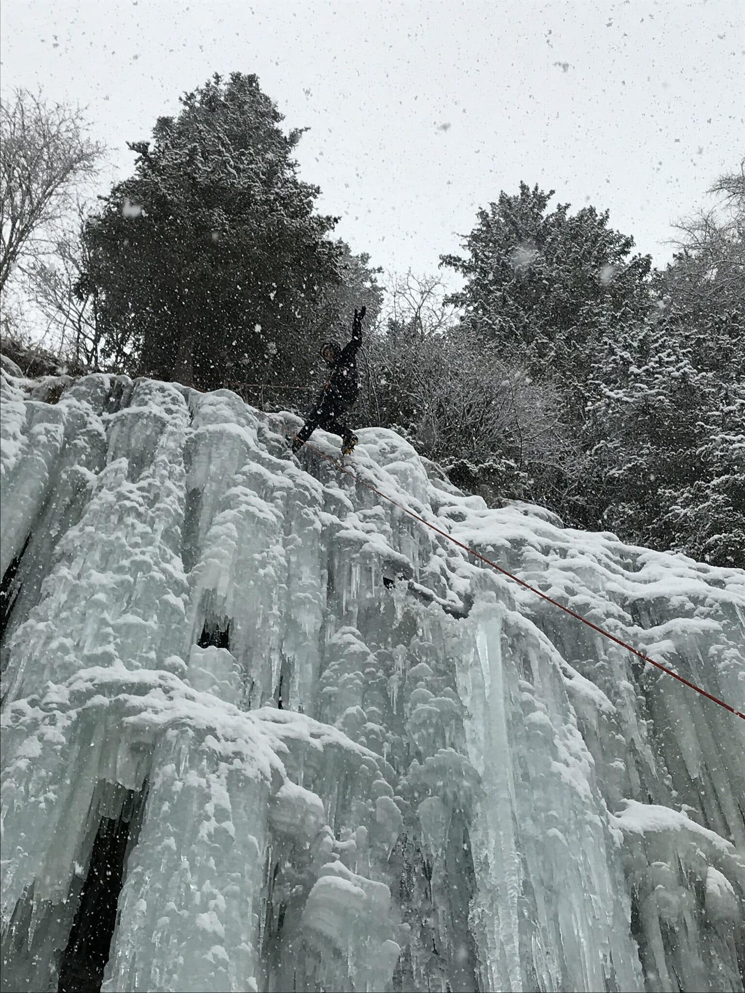 Cascata di ghiaccio. Campo Tures